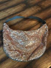 LeSportsac Goddess Sequins GOLD Large Hobo Bag Expandable Platinum Collection