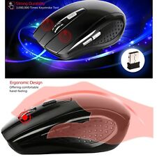 2.4GHz Wireless Optical Mouse USB 1.1 Receiver for Laptop PC