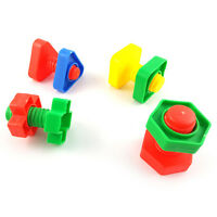 4pcs/set Huge Nuts & Bolts Bird Toy Parts Cages Parrot Bird Toy Parts Foot G2A2