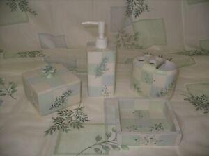 6-Piece Croscill Rainier Everest Shower Curtain and Bath Accessories!