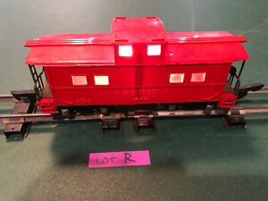 American Flyer Lines S Train 630 Red w/Black Base Lighted Caboose w/Link Lot R