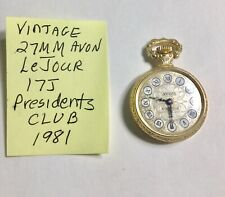 Vintage Avon Presidents  Club LeJour 17J Necklace Watch 27mm Running