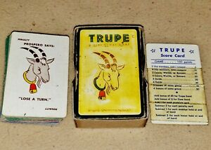 Vintage 1939 Trupe: A Girl Scout Game Card Game w/ 85 Cards