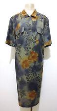 KRIZIA Abito Vestito Donna Cotone Flower Cotton Woman Dress Sz.XL - 48