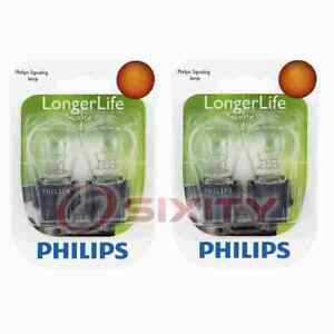 2 pc Philips 3457LLB2 Long Life Tail Light Bulbs for 73247 BP3457LL sr