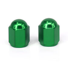Motorcycle Wheel Tire Tyre Valve Stems Caps for Kawasaki Dirt Pit Bike MX Green
