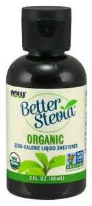 NOW Foods Organic Better Stevia Liquid Sweetener 2 oz, 462 Servings  02/2022EXP