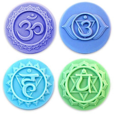Milky Way Chakras 4 Soap Mold Tray - Melt and Pour - Cold Process - Clear PVC -