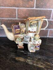 1996 Collectors Club liliput lane teapot RARE Paul Cardew Design.