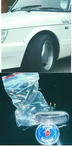 Saab 900 classic  9000  Clear White Side Fender Marker Turn Signal Light  PAIR