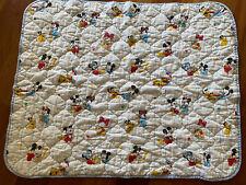 Vintage 1980s Disney Babies Minnie Mickey Pluto Daisy Baby Blanket Crib Quilt