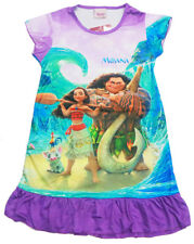 NEW SIZE 3-8 KIDS NIGHTIES DRESS PYJAMAS GIRL DISNEY MOANA MAUI SUMMER SLEEPWEAR
