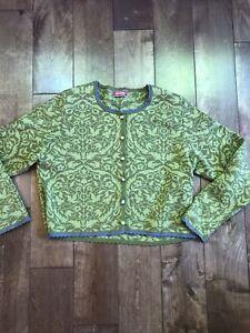 Lovely OLEANA OF NORWAY Women's Cardigan * Size S * Wool / Silk