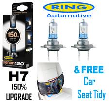 Ring H7 Xenon 150 - Pair Headlamp Bulb Upgrades FREE Car Seat Tidy