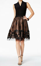 SL Fashions New Sequined Illusion Fit & Flare Dress Size14 MSRP$119 #JN 459 (14)