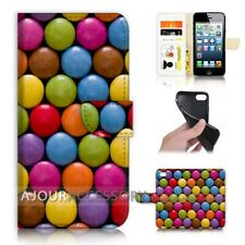 ( For iPhone 5 / 5S ) Wallet Flip Case Cover AJ40028 Candy
