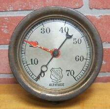 Old ASHCROFT Mfg Co NEW YORK ALTITUDE GAUGE Industrial Transporation Safety Tool
