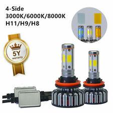 H11 H9 H8 3000K 8000K 6000K LED Headlight 100W 12000LM 4 Side Bulb Hi/Lo Beam