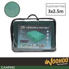 Portable Camping Mat Rubber Net Annex Awning Lighweight Flooring 3x2.5cm Green