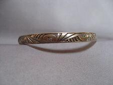 Vintage Danecraft Felch Sterling Silver Art Deco Geometric Bangle Bracelet