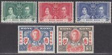 Hong Kong 1937-46 KGVI Coronation Set / Victory 30c, $1 Mint