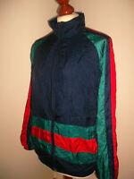 vintage 80s Nylon Jacke jacket shiny 80er oldschool Sportjacke Gr.164 (S)