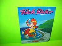 Universal KICK RIDER Original 1984 NOS Video Arcade Game Sales Flyer Rare Japan