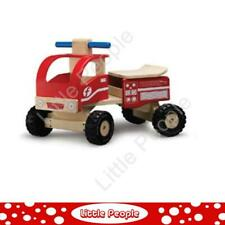 Wooden Ride On Fire Engine teaching children how to balance