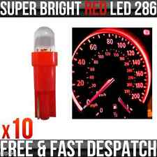 12v 1.2 W T5 5mm Super brillante LED rojo Cuña coche Dashboard & Speedo Bombilla 286 X 10