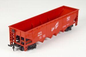 Vintage AHM Model Train Hopper Car Freight Everywhere West HO Scale Gauge Red &