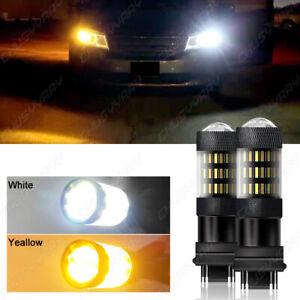 Dual Color Turn Signal Light Amber 3457A 3157 LED Bulb for Toyota Corolla Tundra