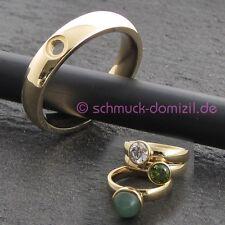 - NEU - MelanO Twisted - Ring Tracy Gr. 55 - Edelstahl / Gelbgold vergoldet