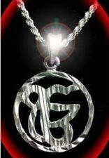 Sikh Punjabi Charm Silver .925 One God Pendant Ik Onkar