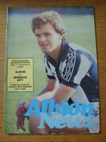 10/11/1979 West Bromwich Albion v Norwich City  (Team Changes)