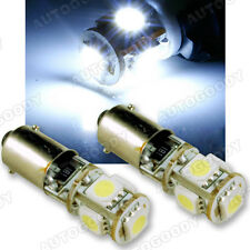 2x White LED Parking Light Bulbs BA9s Error Free