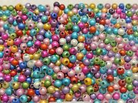 500 Mixed Color 3D Illusion Acrylic Miracle beads 4mm Spacer