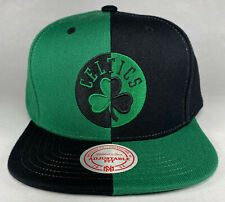 Mitchell and Ness NBA Boston Celtics Kelly Green/Black 4 Way Split Snapback Hat