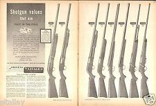 1949 2 Page Print Ad of Savage 775-755 Stevens Models 620 820 124 530 107 59 258