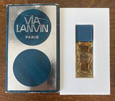 Vintage Never Used Via Lanvin Micro Mini Perfume .125 Oz  RARE