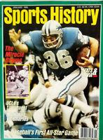 Sports History Magazine January 1990 - Miracle Braves - UCLA - NFL No Label NM