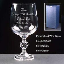 Personnalisé 9 Oz (environ 255.14 g) cristal verre de vin, cadeau d'anniversaire 70th 71st 72nd 73rd 74th 75th
