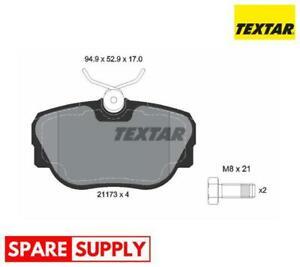BRAKE PAD SET, DISC BRAKE FOR BMW TEXTAR 2117302