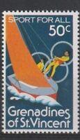 St VINCENT GRENADINES 1980 OLYMPIC GAMES 50c COMMEMORATIVE STAMP MNH