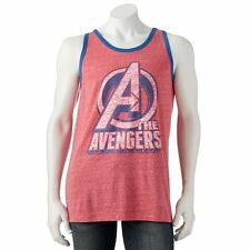 """fa105ccf5835c Marvel """"The Avengers"""" Polyester Faded Red Blue Tank Tops SR 20 NEW"""