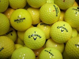 50 Gelbe Golfbälle im Markenmix ! AAAA / AAA ! Topqualität !
