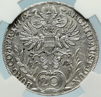 1777 AUSTRIA Queen Maria Theresa Old Antique 20 Kreuzer Austrian NGC Coin i83701
