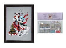 MIRABILIA Cross Stitch PATTERN & EMBELLISHMENT PACK Winter White Santa MD100