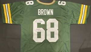 Gary Brown Green Bay Packers SB XXXI Champs 1996 Signed Auto Green Jersey ~ JSA