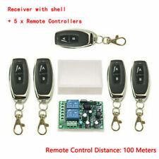 2 Ch Relé conmutador de control remoto de Puerta de Garaje transmisor inalámbrico + Kit Receptor