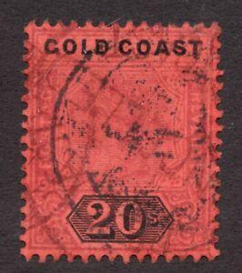 Sc #25 - Gold Coast - 1894 - Victoria - 20 Sh - Used - superfleas - cv$40